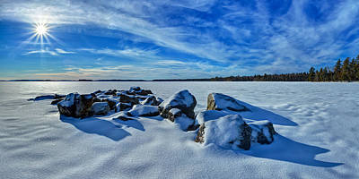 Serenity In Snow Poster by Bill Caldwell -        ABeautifulSky Photography