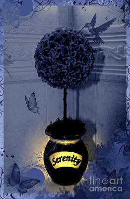 Serenity Topiary Glow Poster by Margaret Newcomb