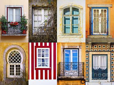 Set Of Windows Poster by Carlos Caetano