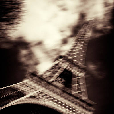 Shades Of Paris Poster by Dave Bowman