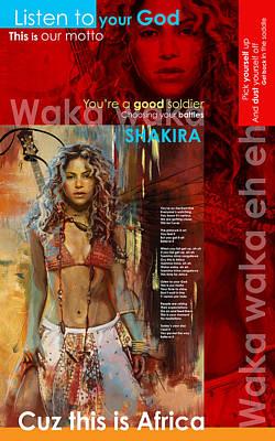 Shakira Art Poster Poster by Corporate Art Task Force