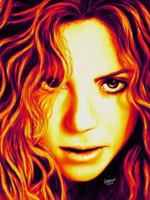 Shakira Poster by Rebelwolf