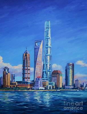 Shanghai Tower Poster by John Clark