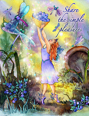 Share The Simple Pleasures Poster by Teresa Ascone