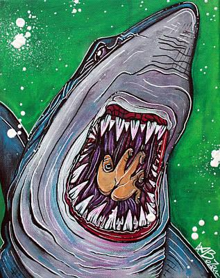 Shark Kill Zone Poster by Laura Barbosa