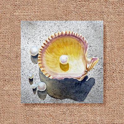 She Sells Seashells Decorative Collage Poster by Irina Sztukowski