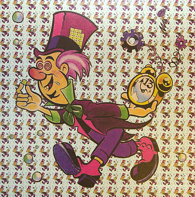 Sheet Of Mad Hatter Blotter Acid Poster by Science Source