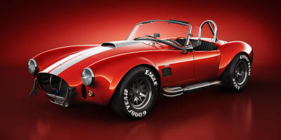 Shelby Cobra 427 - Bloodshot Poster by Marc Orphanos