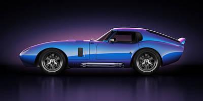 Shelby Daytona - Velocity Poster by Marc Orphanos