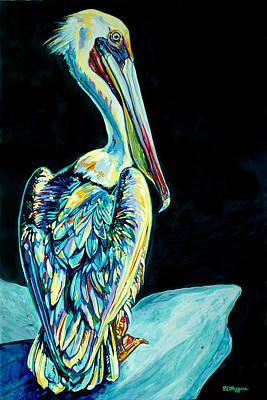 Shelter Island Pelican Poster by Derrick Higgins