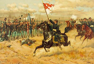 Sheridans Ride Poster by Thure de Thulstrup