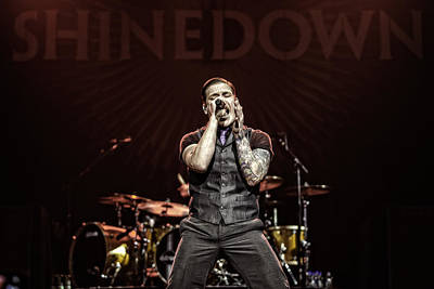 Shinedown  Brent Smith Poster by William Towner
