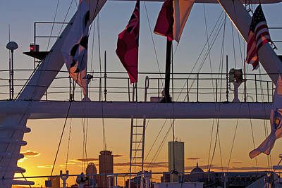 Ship Flags Poster by Betsy C Knapp