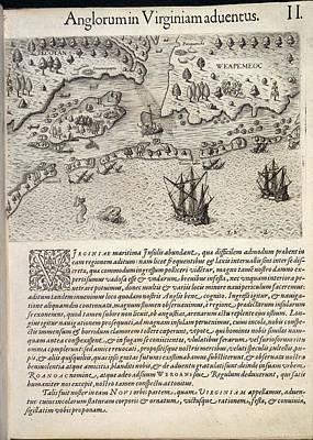 Ships Sailing Towards A Coast Poster by British Library