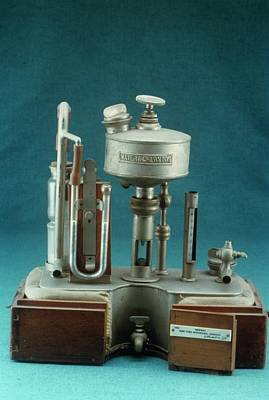 Shipway's Intratracheal Apparatus Poster by Science Photo Library