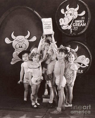 Shirley Temple And Gang - Sepia Poster by MMG Archives