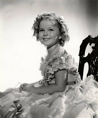 Shirley Temple Portrait Poster by Georgia Fowler