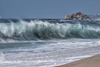 Shorebreak At Aliso Beach Poster by Richard Cheski