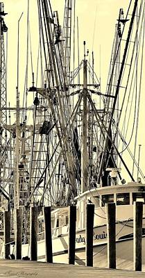 Shrimp Boat Poster by Debra Forand