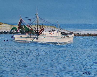 Shrimpboat Carol Lynn Poster by Alan Mintz