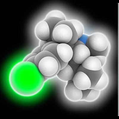Sibutramine Drug Molecule Poster by Laguna Design
