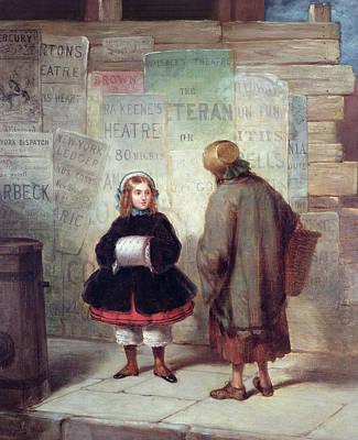 Sidewalks Of New York Or Rich Girl Poor Girl Poster by James Harvey Cafferty