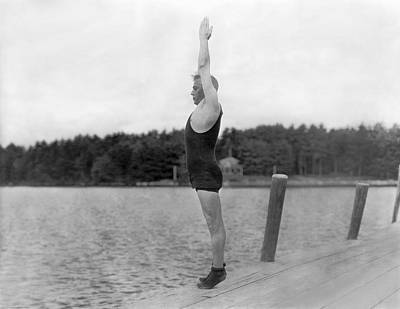 Sidney Olcott On A Dock Poster by Underwood Archives