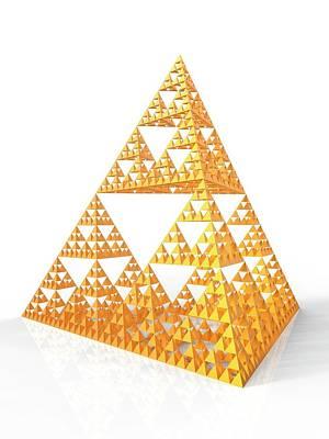 Sierpinski Fractal Pyramid Poster by Alfred Pasieka