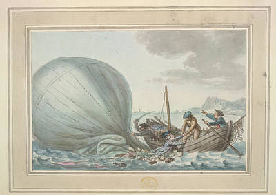 Sig. Lunardi Rescued At Sea Poster by British Library