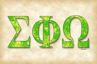 Sigma Phi Omega - Parchment Poster by Stephen Younts
