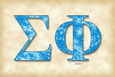 Sigma Phi Society - Parchment Poster by Stephen Younts