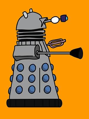 Silly Robot Poster by Jera Sky
