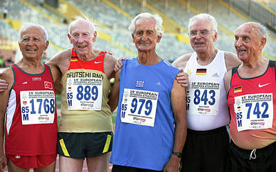 Silver-haired Athletes In Their Late 80s Poster by Alex Rotas