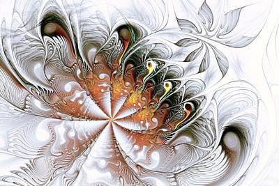 Silver Waves Poster by Anastasiya Malakhova
