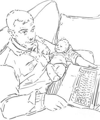 Sing Me To Sleep Daddy Poster by Olimpia - Hinamatsuri Barbu