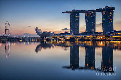 Singapore Skyline Poster by Colin and Linda McKie
