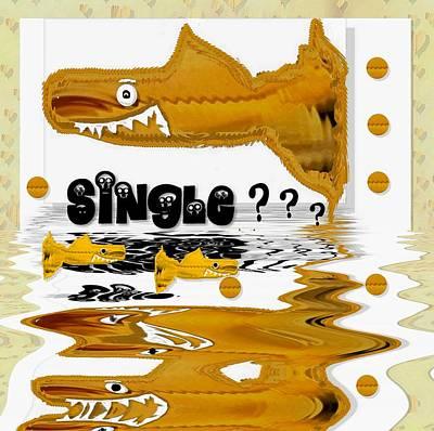 Single Shark Pop Art Poster by Pepita Selles