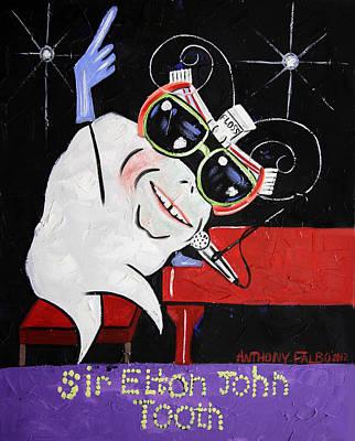Sir Elton John Tooth  Poster by Anthony Falbo