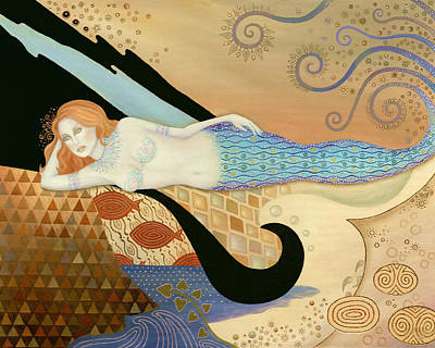 Siren By The Sea Poster by B K Lusk