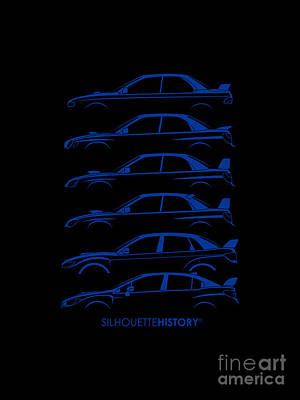 Six Stars Silhouettehistory Poster by Gabor Vida