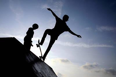 Skateboarders Poster by Fabrizio Troiani