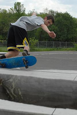 Skateboarding 3 Poster by Joyce StJames