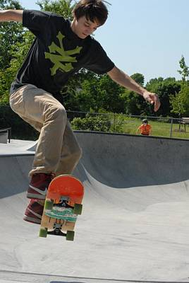 Skateboarding 9 Poster by Joyce StJames