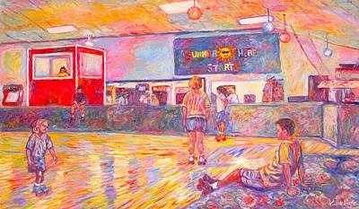 Skating Break Poster by Kendall Kessler