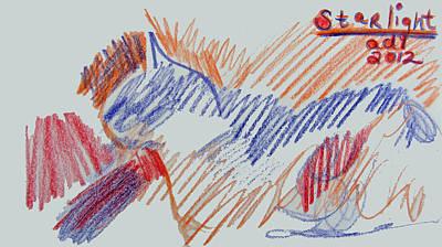 Sketch Of Starlight Poster by Anita Dale Livaditis
