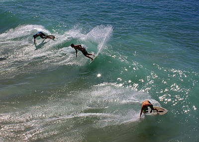 Skim Boarders Poster by Karey and David Photography