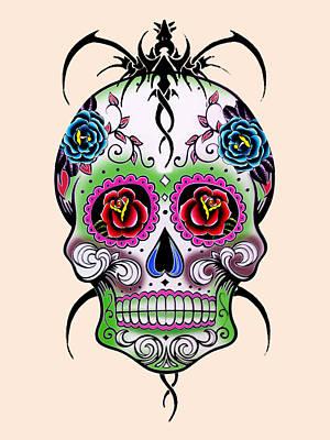 Skull 11 Poster by Mark Ashkenazi