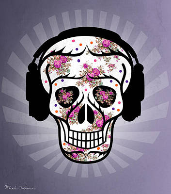 Skull 2 Poster by Mark Ashkenazi