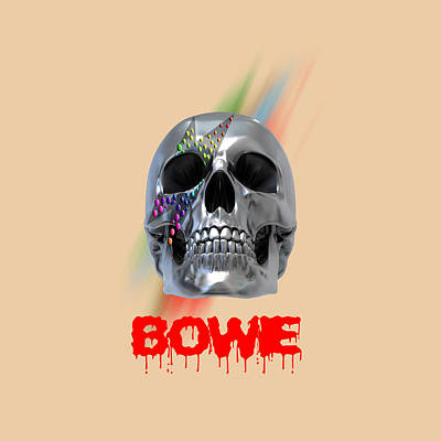 Skull Bowie  Poster by Mark Ashkenazi