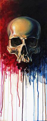 Skull Poster by David Kraig